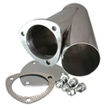 3.50 Inch Stainless Steel Exhaust Cutout Quick Time Performance - QuickTime (10350-GKWF)