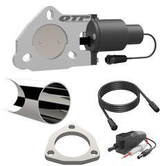 2.50 Inch QTEC Electric Cutout DIY Combo Kit Quick Time Performance - QuickTime (QTEC25DIY-GKWF)