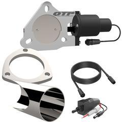 3.00 Inch QTEC Electric Cutout DIY Combo Kit Quick Time Performance - QuickTime (QTEC30DIY-GKWF)