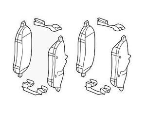 Front Disk Brake Pads - Mercedes-Benz (007-420-97-20)