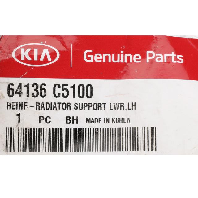 KIA OEM 2016 Sorento Radiator Core Support-Lower Reinforcement Left 64136C5200