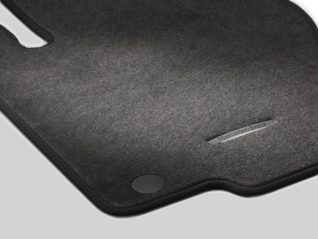 CARPETED FLOOR MATS - SET OF 4 - GREY - Mercedes-Benz (166-680-41-02-68-7M31)