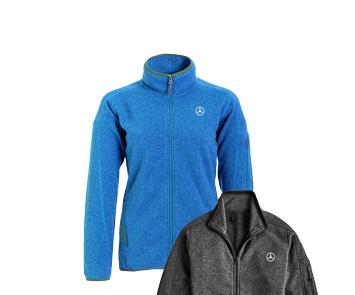 Women's Blue Sweater Knit Fleece - Mercedes-Benz (AMWL490BL)