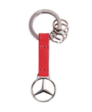 Red Leather Strap Key Ring - Mercedes-Benz (AMHK225RD)