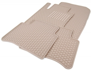 Floor Mats, All-Season - Beige - Mercedes-Benz (Q-6-68-0669)