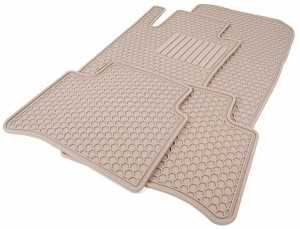 ALL SEASON FLOOR MATS - BEIGE - FOR 4MATIC VEHICLES - Mercedes-Benz (Q-6-68-0672)