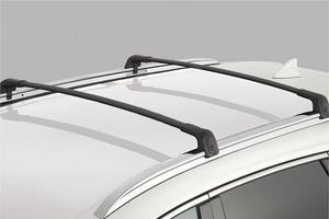 Roof Rack Cross Bars, Black Without Sunroof