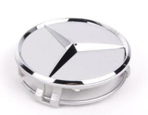 Wheel Hub Insert - Silver Cap Silver Logo - Mercedes-Benz (6-6-47-0202)