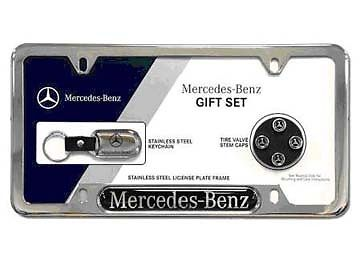 OEM GENUINE MERCEDES BENZ 3 PIECE LICENSE PLATE GIFT SET - Mercedes-Benz (Q-6-99-0002)