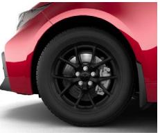 Corolla Alloy Wheels - Satin Black - Toyota (PK457-12L02)