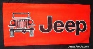 Jeep Towel 2 Go  - Red Beach and Seat Towel