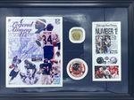 Walter Payton Chicago Bears  Autographed Photo w/Super Bowl  Replica Ring - Sports Memoribilia (WAL-BEA-PHO-RIN)