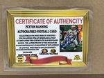 Peyton Manning Autographed Football Card W/Replica Rings - Sports Memoribilia (PEY-BRO-RIN-CAR)