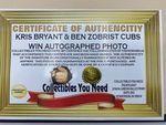 Kris Bryant & Ben Zobrist Chicago Cubs Autographed Photo - Sports Memoribilia (WOR-BYR-CUB)