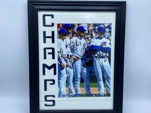Chicago Cubs, Baez, Rizzo, Zobrist & Bryant Autographed Photo - Sports Memoribilia (WOR-BAE-CUB)