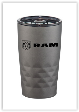 Ram 14 oz Copper Vacuum Insulated Word and Shield Tumbler - RAM (1266E)
