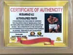 Muhammed Ali Autographed Photo w/Replica Ring - Sports Memoribilia (MUH-ALI-PHO-RIN)