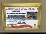 John Elway Denver Broncos Autographed Football Card w/Replica Rings - Sports Memoribilia (JOH-BRO-RIN-CAR)