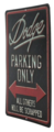 DODGE PARKING TIN SIGN - DODGE (12DFL)
