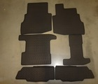 Floor Mats, Black All-Weather, Rear for 2nd and 3rd rows (set of 6)
