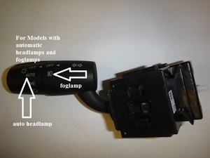 Fog Light Switch, W/ Auto Headlights - mazda (BALN-66-122)