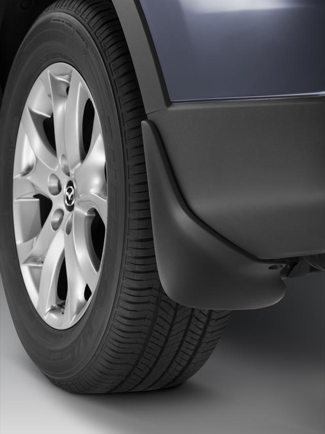 2007-2015 Mazda CX-9 Front Black Splash Guards Genuine OEM NEW TD11-V3-450F