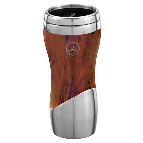 Double Wall Stainless Steel And Wood Grain Tumbler - Mercedes-Benz (1443181-00)