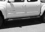 """Tacoma Double Cab 2005-2012 4"""" Oval Bent End Sidebars(Textured Black)"""
