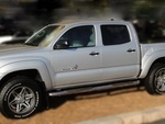 """Tacoma Double Cab 2005-2014 4"""" Oval Bent End Sidebars"""