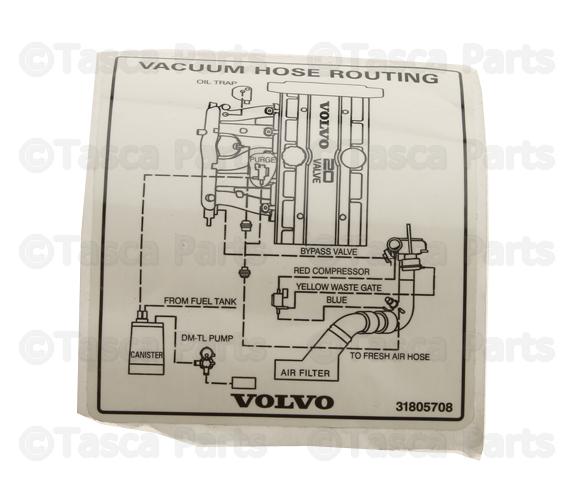 2002-2006 Volvo Vacuum Diagram 31805708 | TascaParts.com | Volvo Xc70 Engine Diagram |  | Tasca Parts