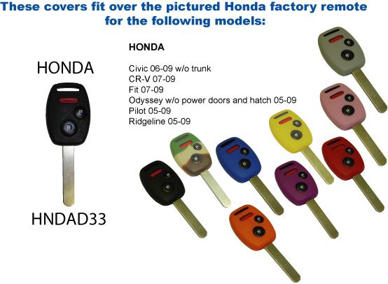 Keyless Remote Cover - Honda (HNDAD33)