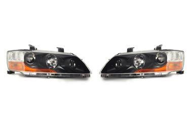 (LH & RH PAIR) Mitsubishi Headlight Housings KIT (JDM Evo 9 MR HID | Flat Black) - Evo 8/9 - Mitsubishi (8301B7178KIT)