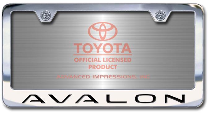 Chrome Engraved Avalon License Plate Frame-Block Lettering - Custom (2004-BLAVA)