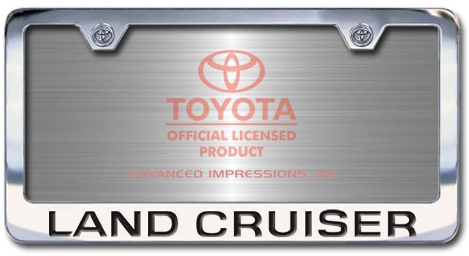 Chrome Engraved Land Cruiser License Plate Frame-Block Lettering - Custom (2004-BLLDCRUIS)