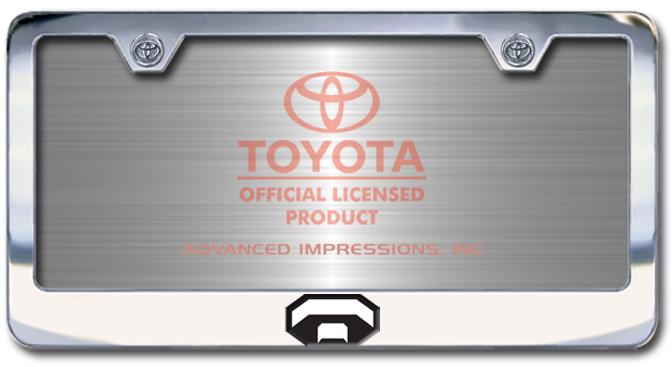 Chrome Engraved Toyota Trucks Logo License Plate Frame - Custom (2004-TRUCKS)