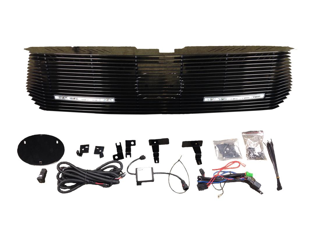 LED Daytime Running Lights Billet Grille Replacement 2014-2015 Tundra - Custom (TTU-BG14-DRL)