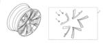 "19"" Wheel Accent, Bronze - Honda (08W19-TVA-100E)"