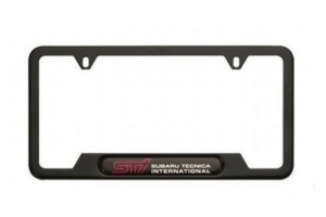 GENUINE SUBARU STI BLACK LICENSE PLATE FRAME - Subaru (SOA342L126)