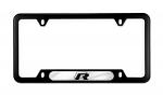 BLACK STAINLESS VOLKSWAGEN FRAME FEATURING THE R LINE LOGO - Volkswagen (5K0-071-801-D)