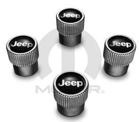 Valve Stem Caps - Satin Chrome - Jeep Logo - Mopar (82213628ab)