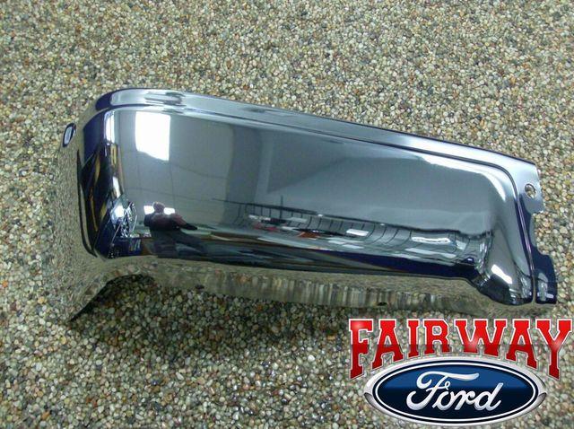 09 thru 14 Ford F-150 OEM Genuine Ford Rear Chrome Step Bumper wo Prox LH Driver - Ford (9L3Z-17906-ACP-LH)