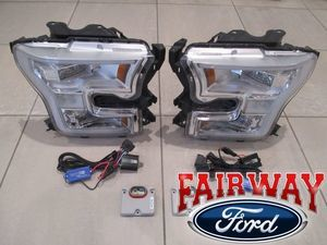 2016 thru 2017 F-150 OEM Ford Chrome Headlamp LED Conversion Kit
