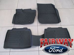 2017 Lincoln MKZ OEM Genuine Ford Tray Style Molded Black Floor Mat Set 4-pc - Ford (HP5Z-5413300-DA)
