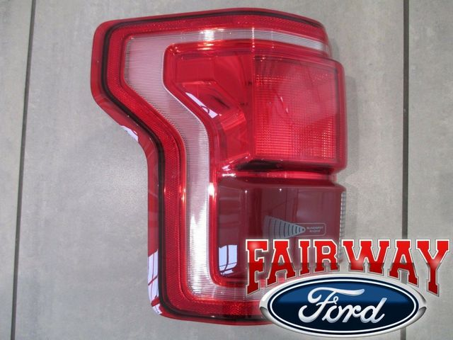 15 thru 17 F-150 OEM Genuine Ford Tail Lamp Light Driver LH LED w/ Blind Spot - Ford (HL3Z-13405-DCP)