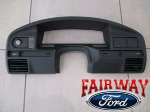 94 thru 97 F150 F250 F350 SD OEM Ford Instrument Cluster Dash Panel Bezel GAS - Ford (F4TZ-15044D70-A)