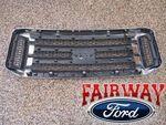 2006 thru 2007 Super Duty F250 F350 F450 F550 OEM Genuine Ford Chrome w/ Black Grille - Ford (6C3Z-8200-BDCP)