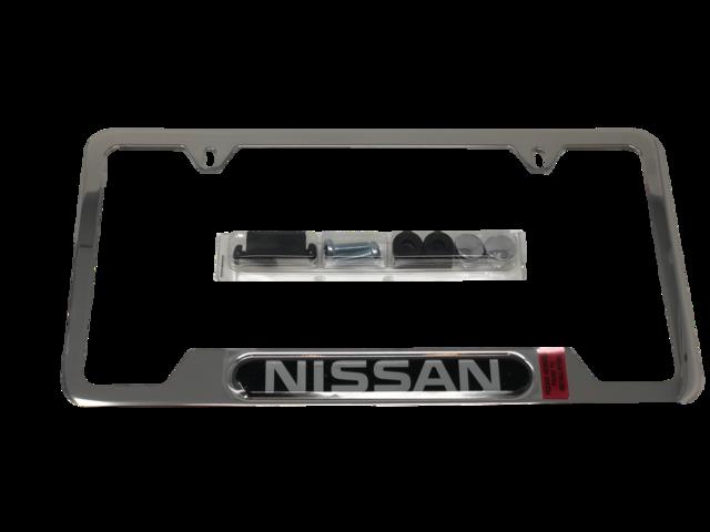 Genuine Nissan License Plate Frame Nissan Logo 999MB-SV000 | eBay