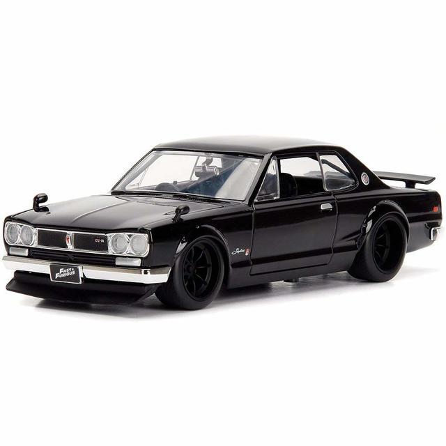 JADA 1:24 FAST & FURIOUS BRIANS NISSAN SKYLINE 2000 GT-R BLACK - Nissan (51652)