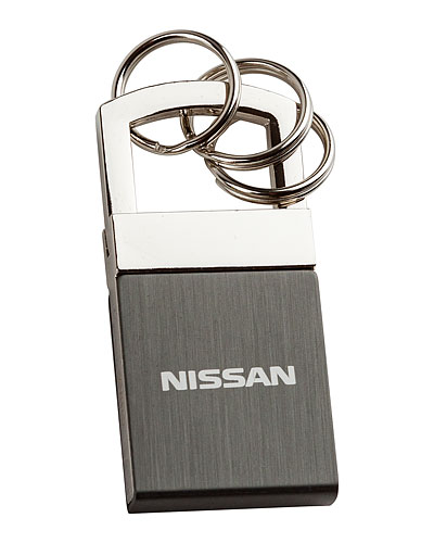 NISSAN BRUSHED METAL KEY CHAIN - Nissan (NIS18003200)