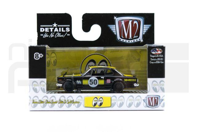 1:64 SCALE M2 1971 SKYLINE BLACK / YELLOW - Custom (51737)